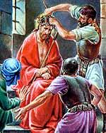[Jesús es coronado de espinas]