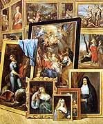 [Galería del archiduque Leopoldo Guillermo (detalle) de David Teniers el Joven]