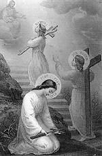 [Imitando a Jesucristo. Estampa francesa de finales del XIX]