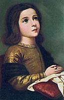 [Virgen Niña en oración de Francisco Zurbarán. 1650-60]