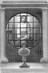 [Jesús prisionero del amor al hombre en el sacramento del altar, espera nuestra visita. Estampa religiosa francesa de finales del siglo XIX]