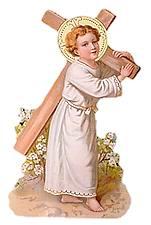 [Niño Jesús con la cruz. Estampa de finales del siglo XIX]