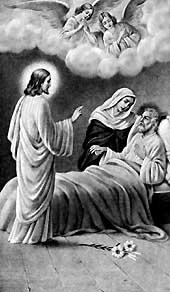 [Muerte de San José asistido por Jesús y María]