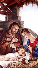 [Estampa de José, María y Jesús]