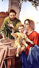 [Estampa de María, José y Jesús niño]