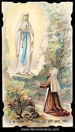 oraciones a nuestra señora virgen de lourdes