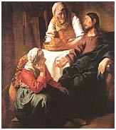 [Cristo en la casa de Marta y María de Jan Vermeer. 1654-55]