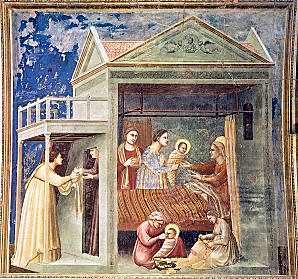 [Nacimiento de la Virgen María de Giotto]