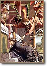 [La oración de san Sigisberto de Michael Pacher. 1480]