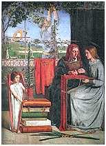 [La infancia de la Virgen María de Dante Gabriel Rossetti]