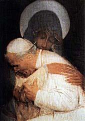[María y Juan Pablo II]