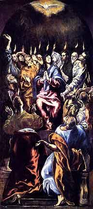 [Pentecostés de El Greco ]