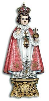 [Santo Niño Jesús de Praga. Estampa antigua]