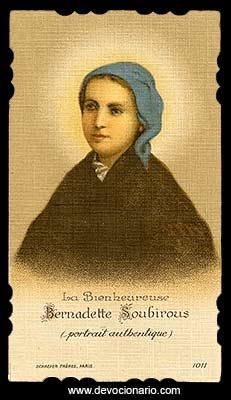 [Estampa antigua de santa Bernadette Soubirous]