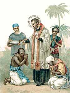 Resultado de imagen de predicación de san francisco javier en goa