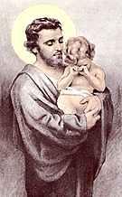 [Estampa de San José con el niño Jesús]