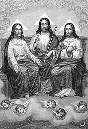 [Estampa religiosa de la Santísima Trinidad. Finales del siglo XIX]