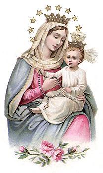 Resultado de imagen de virgen del Rosario