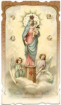 Medalla unifaz Ntra. Sra. del Pilar , s. XX Virgen_pilar_1