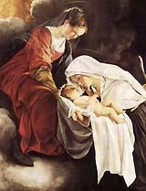 [La visión de santa Francisca Romana de Orazio Gentileschi]
